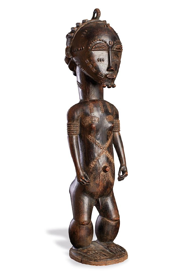 Exceptional Baule Male Statue, Ivory Coast