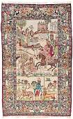 Kirman pictorial rug signed