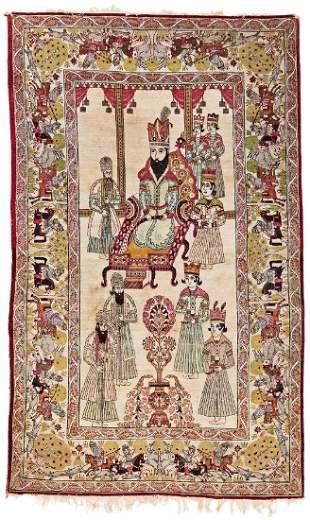 Kirman pictorial rug