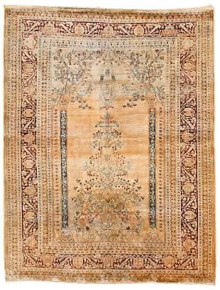 Tabriz Silk Persia ca. 1900 163 x 127 cm (5ft. 4in. X