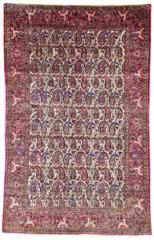 Kashan Silk Persia ca. 1900 197 x 124 cm (6ft. 6in. X