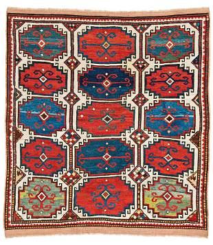 Moghan Caucasus ca. 1860 145 x 137 cm (4ft. 9in. X 4ft.