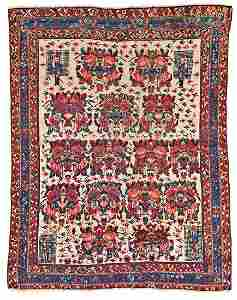 Afshar Persia ca. 1880 149 x 117 cm (4ft. 11in. X 3ft.
