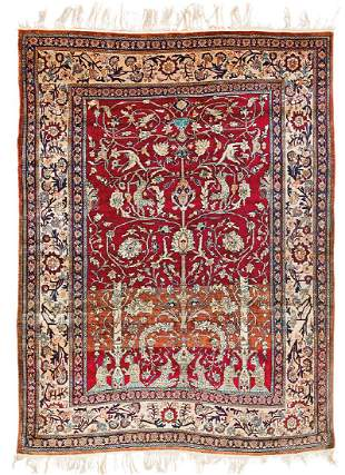 Heriz Silk Persia late 19th century 175 x 140 cm 175 x