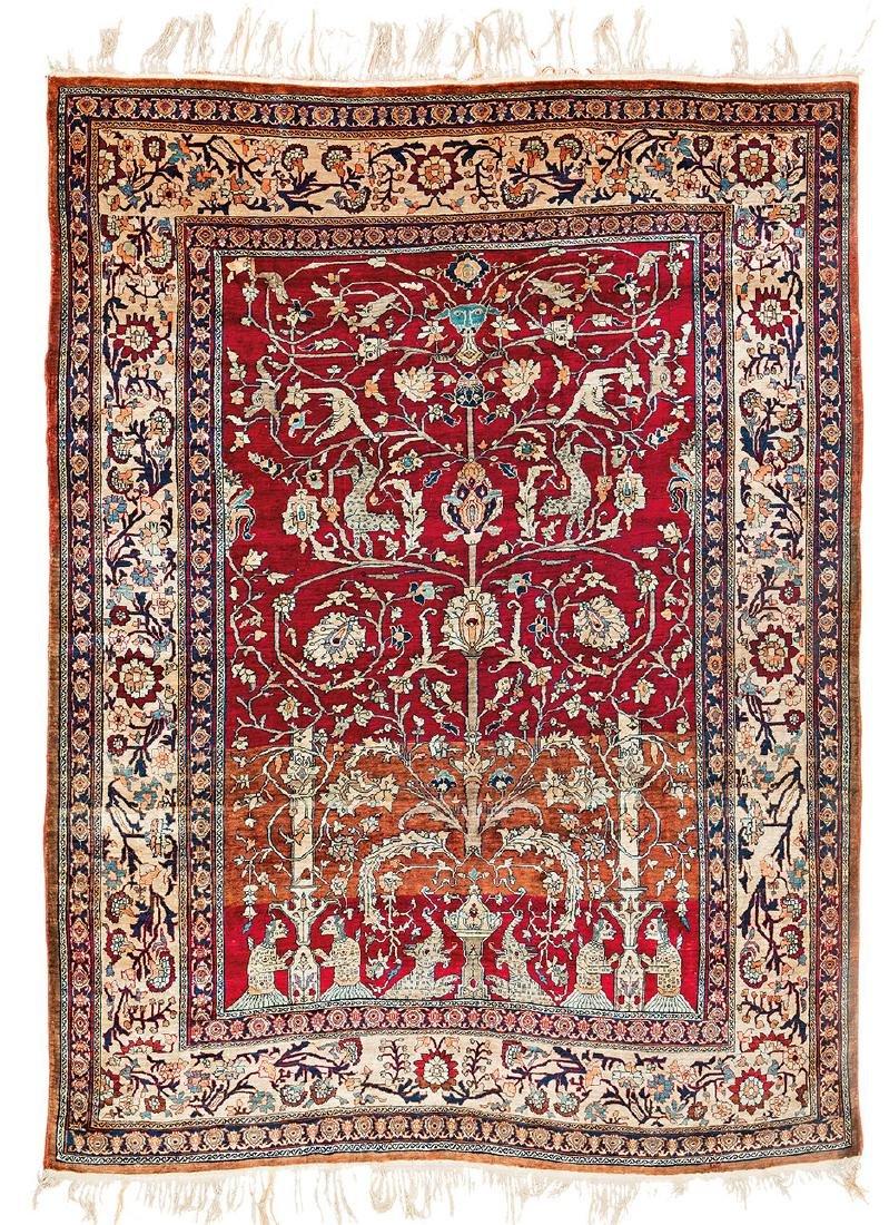Heriz Silk Persia late 19th century 175 x 140 cm 175 x