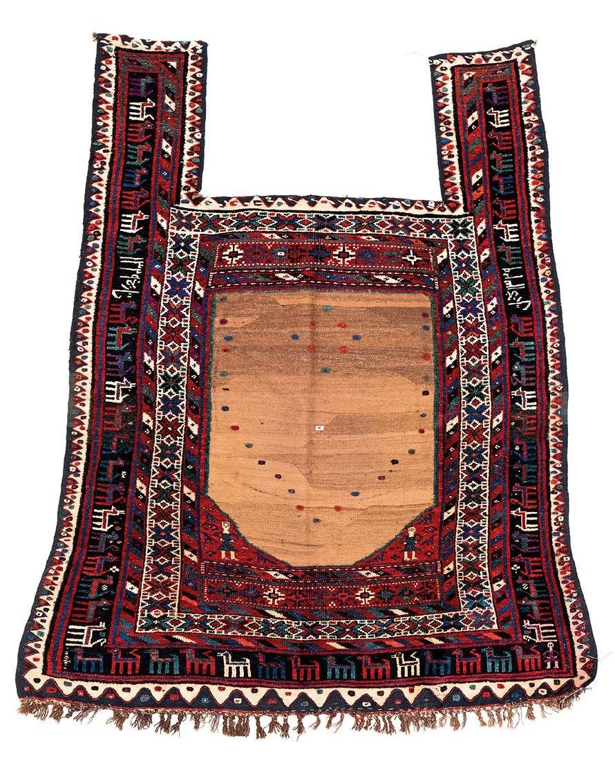 Varamin Horse cover  Persia, dated 1329 (1910) 3ft.