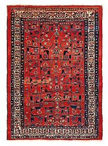 Heriz  Persia, mid 19th century 7ft. 4in. x 5ft. 3in.
