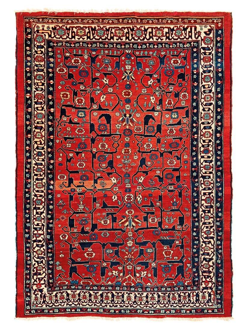 Heriz  Persia, mid 19th century 7ft. 4in. x 5ft. 3in.