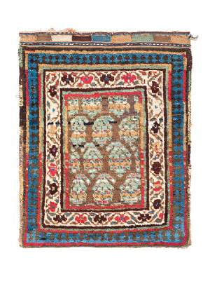 Shahsavan Bag  Persia, late 19th century 2ft. 1in. x