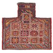 Afshar sumakh salt bag  Persia, late 19th century 2ft.
