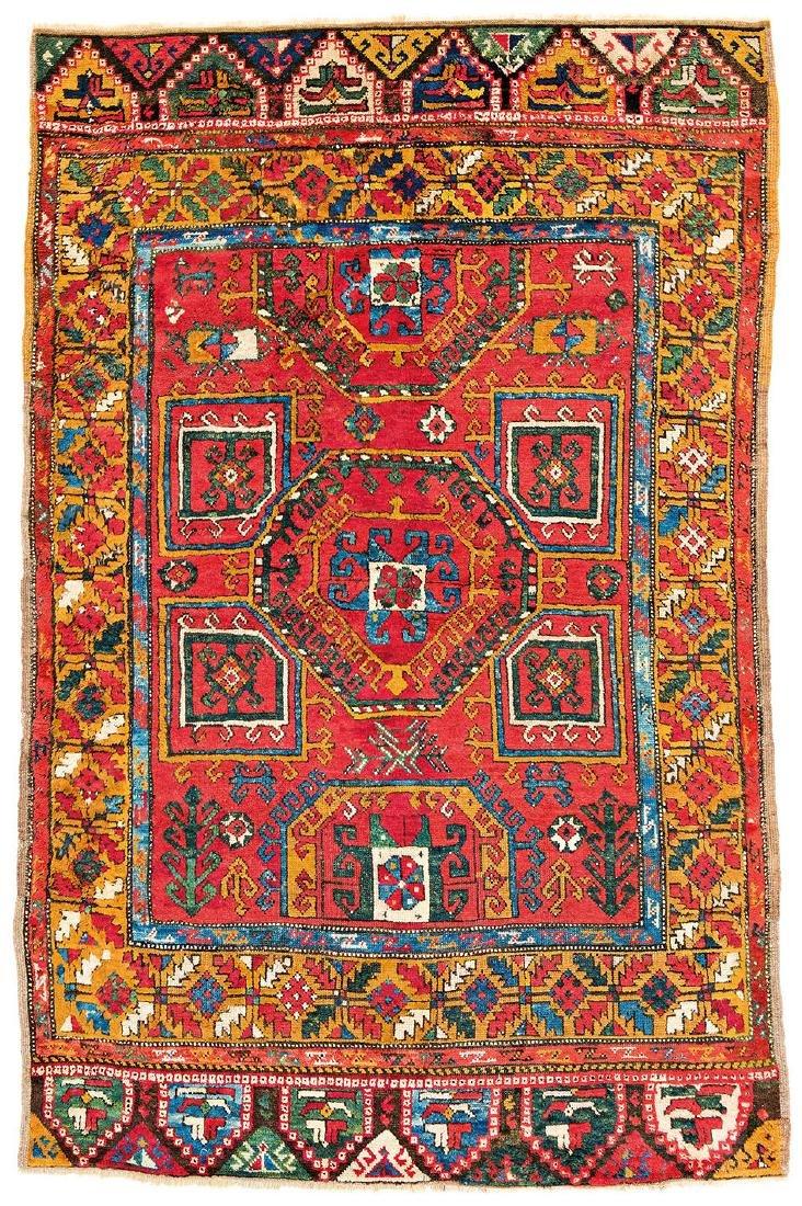 Konya Turkey, ca. 1870 212 x 138 cm (6ft. 11in. X 4ft.