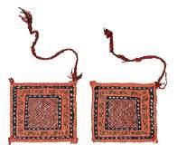 Two Afshar Sumakh pot holders