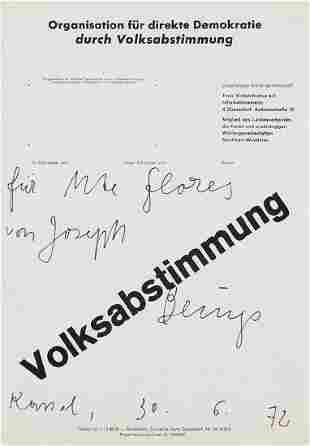 JOSEPH BEUYS - (1921 KREFELD  - 1986 DÜSSELDORF) -