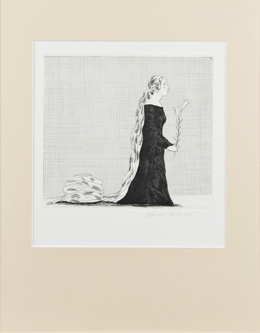 DAVID HOCKNEY - (1937 BRADFORD) - THE OLDER RAPUNZEL,