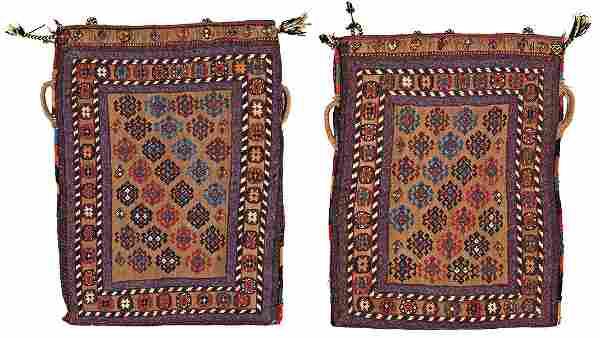 Pair of Afshar Kilim Bags