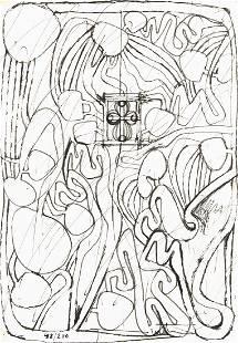 HERMANN NITSCH 1938 WIEN ARCHITEKTURZEICHNUNG