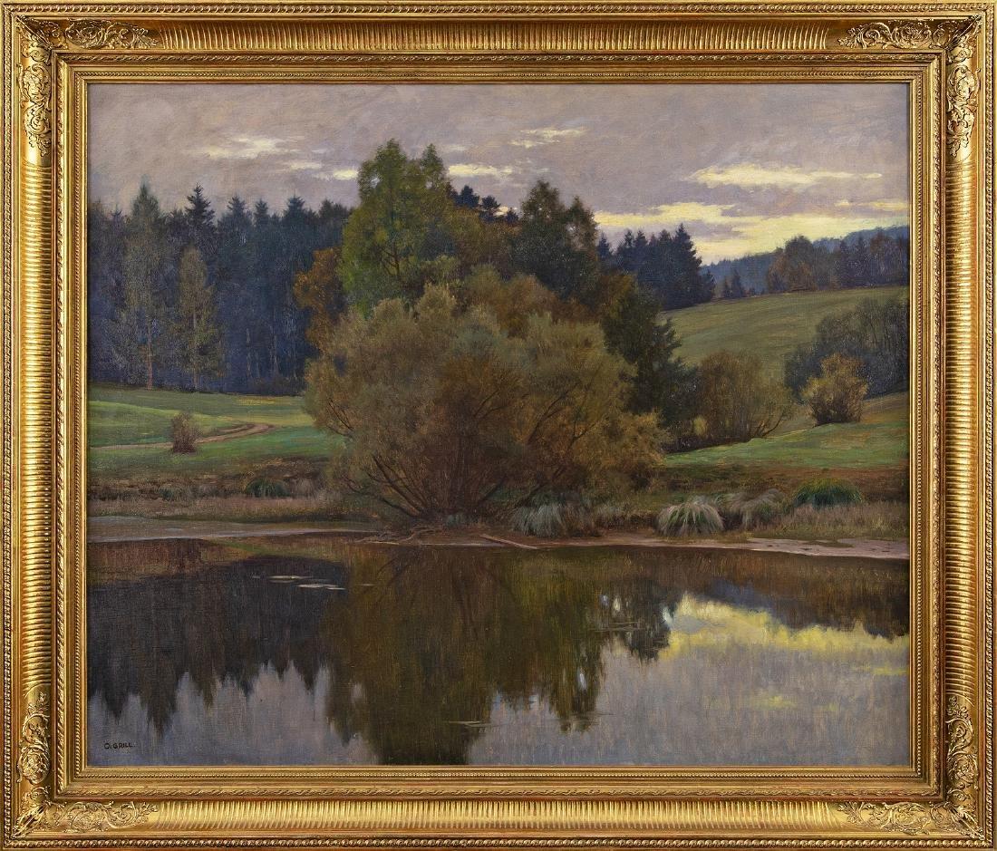 OSWALD GRILL - (1878 WIEN - 1964 WIEN) - Abendstimmung - 2