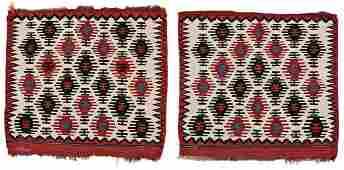 Pair of Shahsavan Kilim Bag Faces
