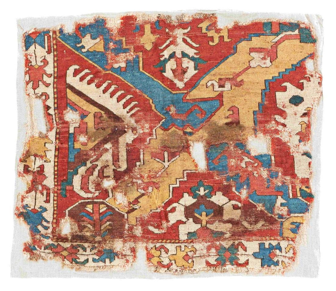 Caucasian Dragon Rug Fragment