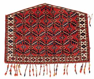 Rare Red-Ground Yomut Asmalyk