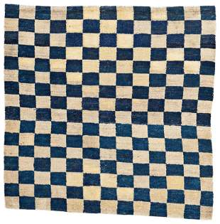 Tibetan Checkerboard Rug Fragment