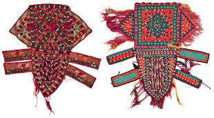 Two Turkmen Animal Trappings
