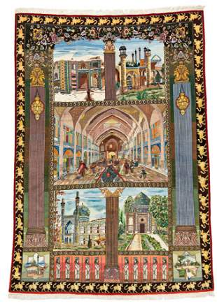 Tabriz Pictorial Rug