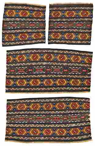 Four Parts of a Shahsavan Soumak Mafrash