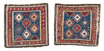 Two Shahsavan Soumak Bag Faces
