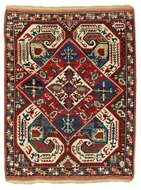 Important Caucasian Rug with Embroidery design