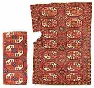 Two Kizil Ayak Rug Fragments