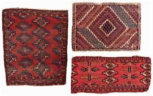 Three Ersari Rug Fragments