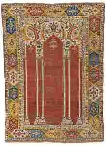 Southwest Anatolian 'Coupled-column' Prayer Rug