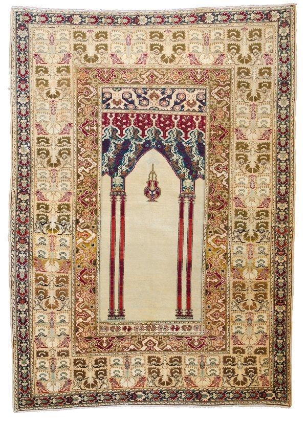 Ghiordes prayer rug, Turkey circa 1880