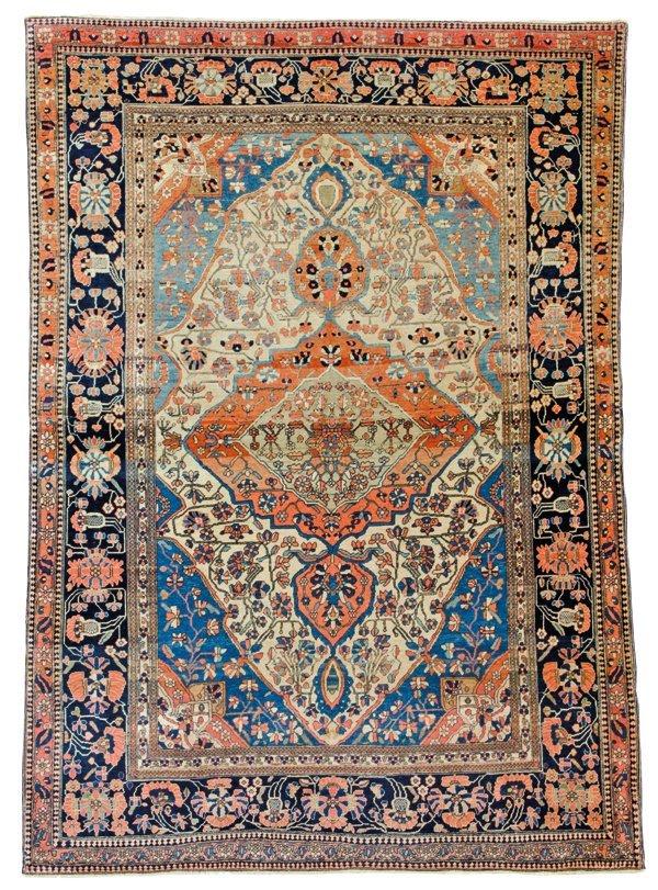 Keshan Mohtashem rug, Persia circa1890