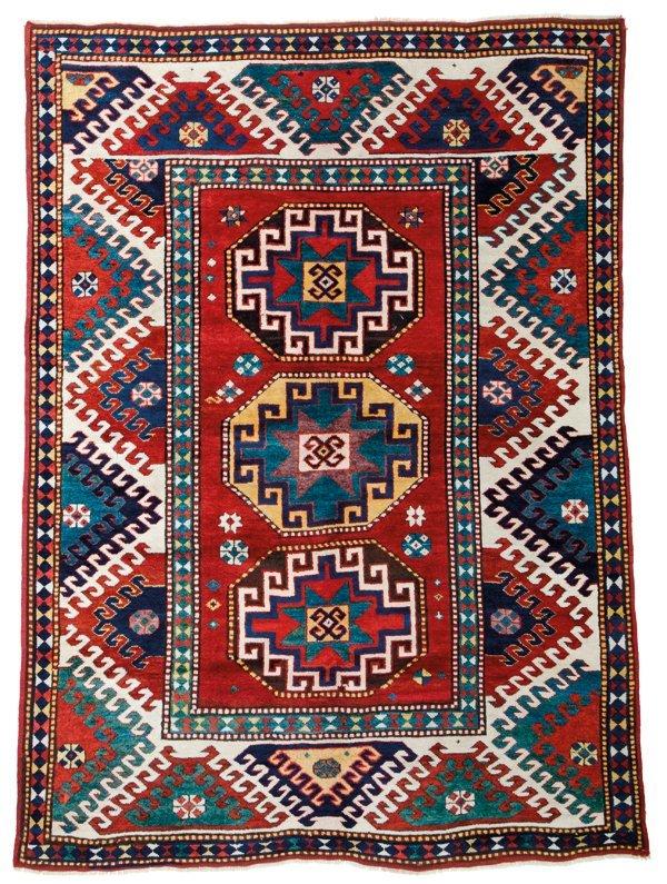 Borjalou Kazak rug, Caucasus circa 1880