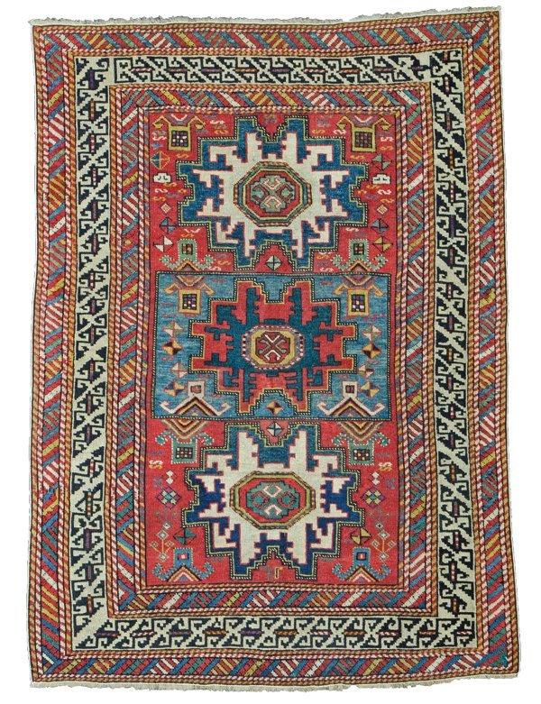 Shirvan rug, Caucasus circa 1860
