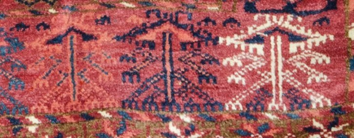 Tekke engsi, Turkmenistan circa 1860 - 2