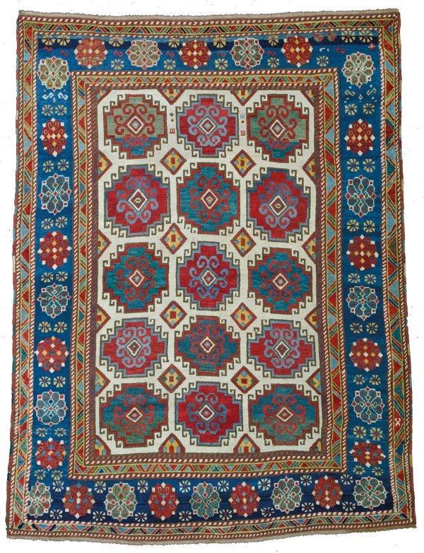 Kazak rug, Caucasus circa mid-19th century