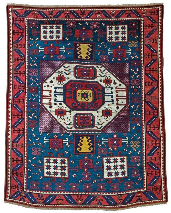 Karachov Kazak rug, Caucasus circa 1850