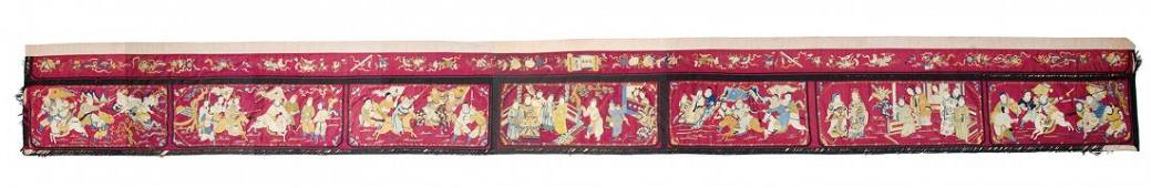 Chinese silk embroidered banner