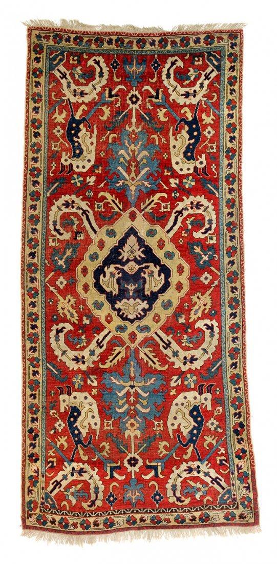 Caucasian animal rug