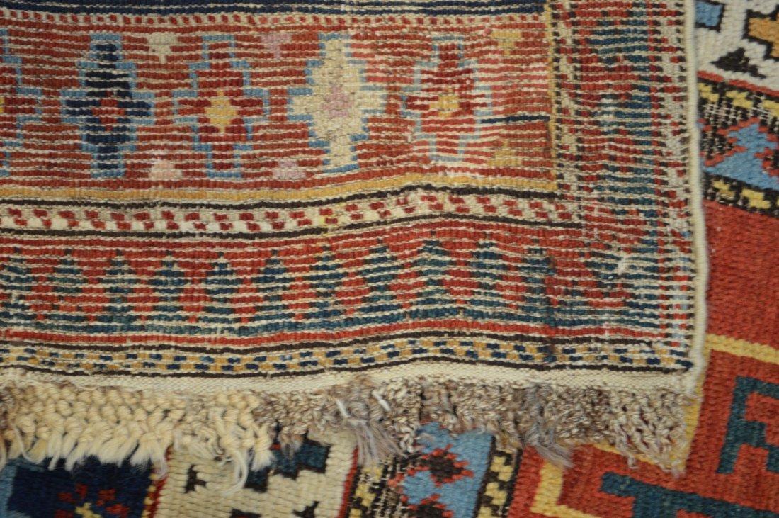 Lesghi star long rug inscribed - 10