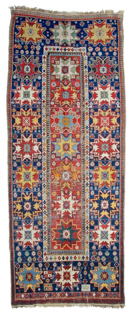 Lesghi star long rug inscribed