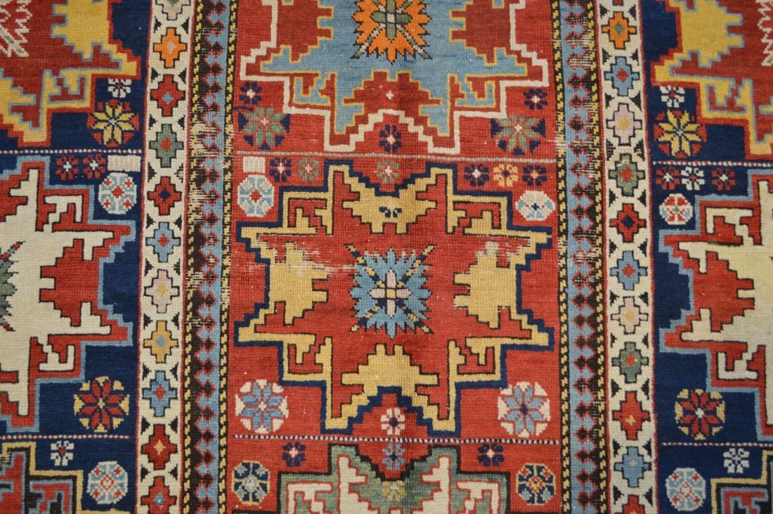 Lesghi star long rug inscribed - 4