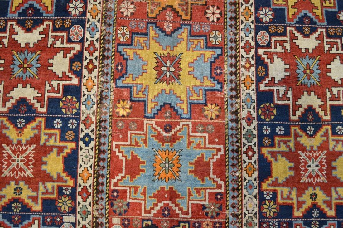 Lesghi star long rug inscribed - 5