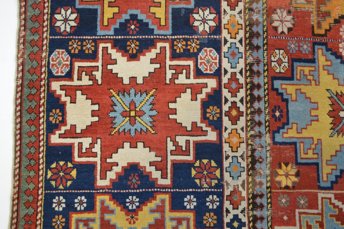 Lesghi star long rug inscribed - 6