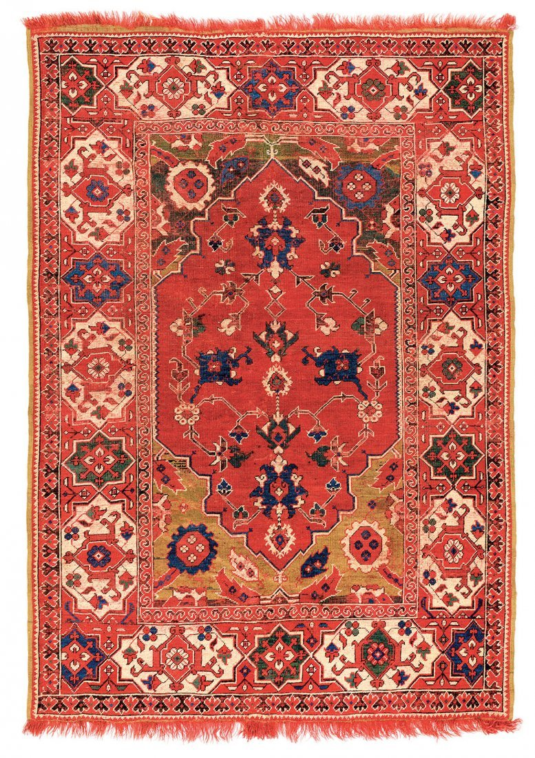 Transylvanian rug with Star-and-cartouche border
