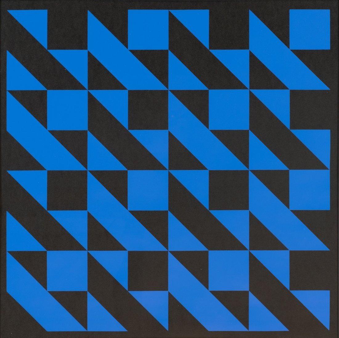 Horst Bartnig * (1936 Millitsch/Schlesien) 8 blaue und