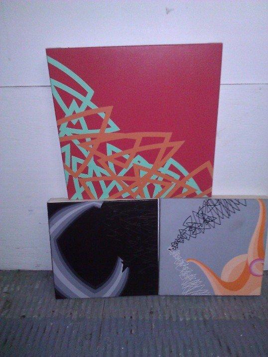 2005 Scott Malbaurn 3 paintings – Acrylic on Canvas on